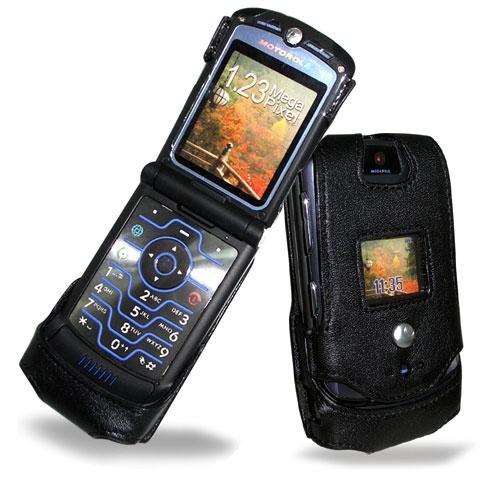 Motorola RAZR V3i  leather case - Noir ( Nappa - Black )