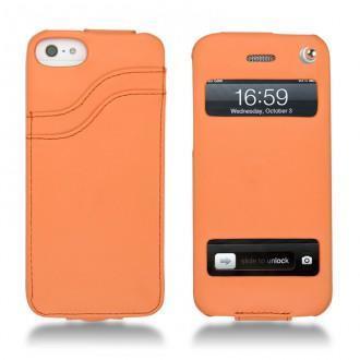 Protections En Cuir Coque 233 Tui Housse Pour Apple Iphone 5 Par Noreve