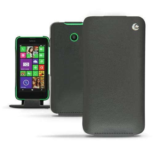 Housse cuir Nokia Lumia 630 - 635 - Noir ( Nappa - Black )
