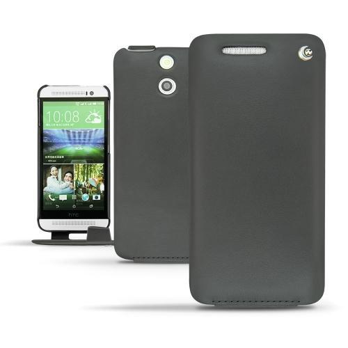 Housse cuir HTC One E8  - Noir ( Nappa - Black )