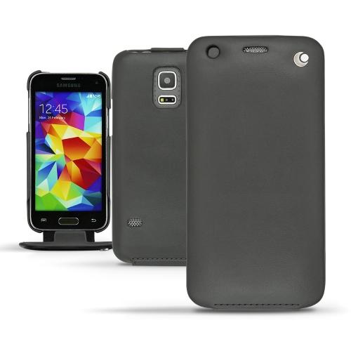 Samsung SM-G800 Galaxy S5 mini  leather case - Noir ( Nappa - Black )