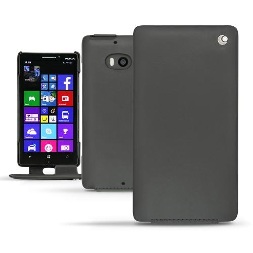 Nokia Lumia 930  leather case - Noir ( Nappa - Black )