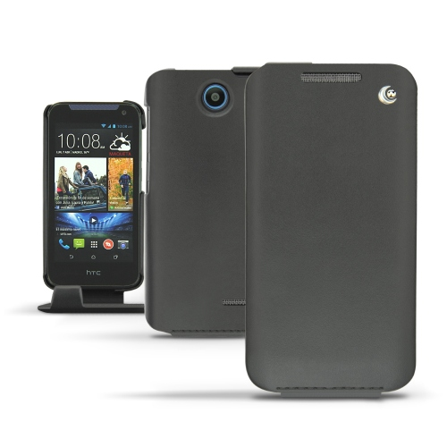 HTC Desire 310  leather case - Noir ( Nappa - Black )