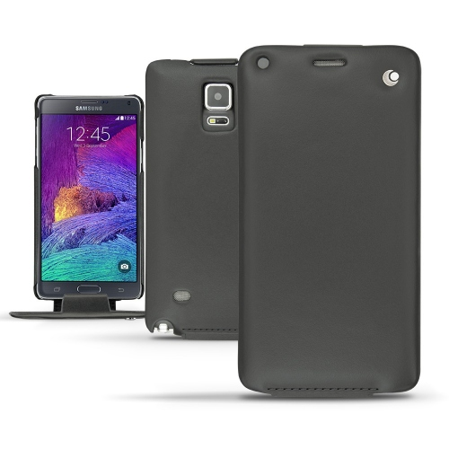 Housse cuir Samsung SM-N910 Galaxy Note 4  - Noir ( Nappa - Black )