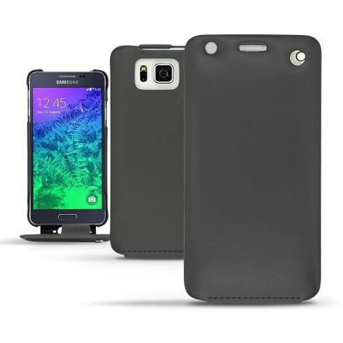Funda de piel Samsung Galaxy Alpha  - Noir ( Nappa - Black )