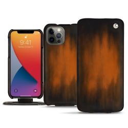 Housse cuir Apple iPhone 13 Pro - Platinium ( Pantone 877C )