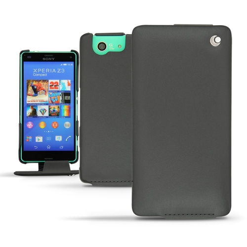 Sony Xperia Z3 Compact leather case - Noir ( Nappa - Black )