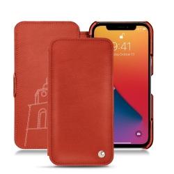 Apple iPhone 13 Pro leather case - Platinium ( Pantone 877C )
