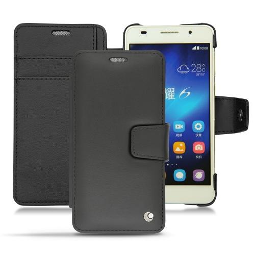 Huawei Honor 6 leather case - Noir ( Nappa - Black )
