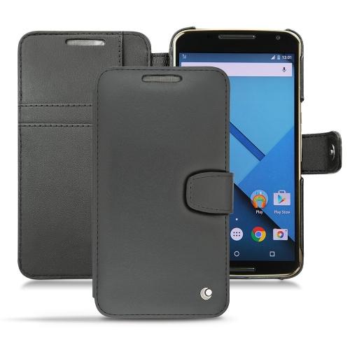 Housse cuir Motorola Nexus 6
