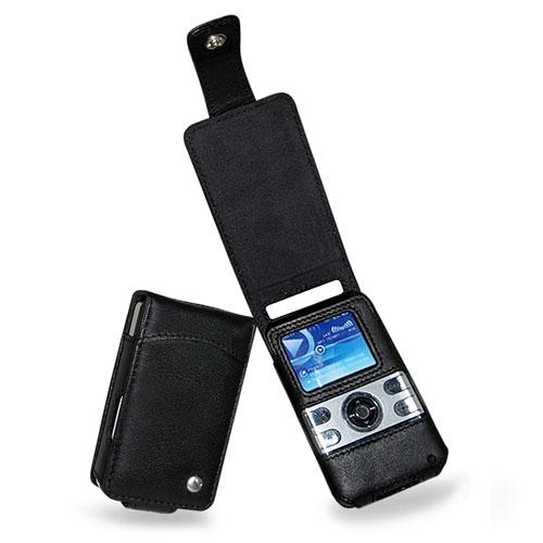 Etui cuir MPIO HD 400 Solid  - Noir ( Nappa - Black )