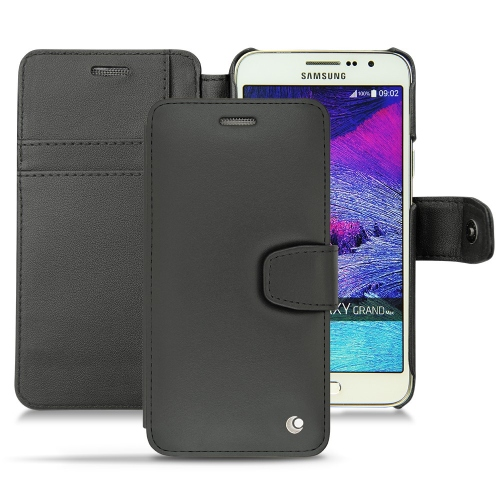 Samsung Galaxy Grand Max leather case - Noir ( Nappa - Black )