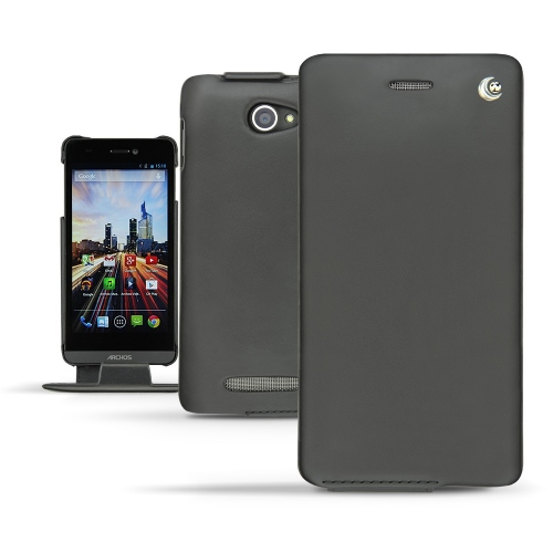 Archos 50 Helium 4G  leather case - Noir ( Nappa - Black )
