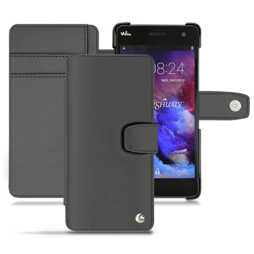 Wiko Highway leather case - Noir ( Nappa - Black )