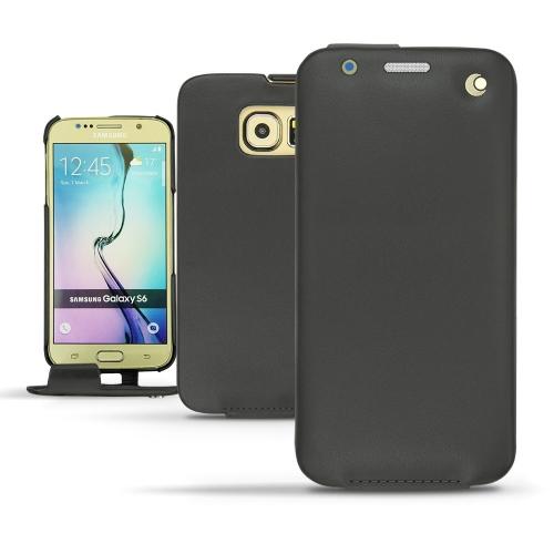 Housse cuir Samsung SM-G920A Galaxy S6  - Noir ( Nappa - Black )