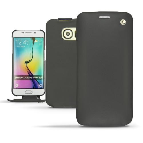 Housse cuir Samsung Galaxy S6 Edge - Noir ( Nappa - Black )