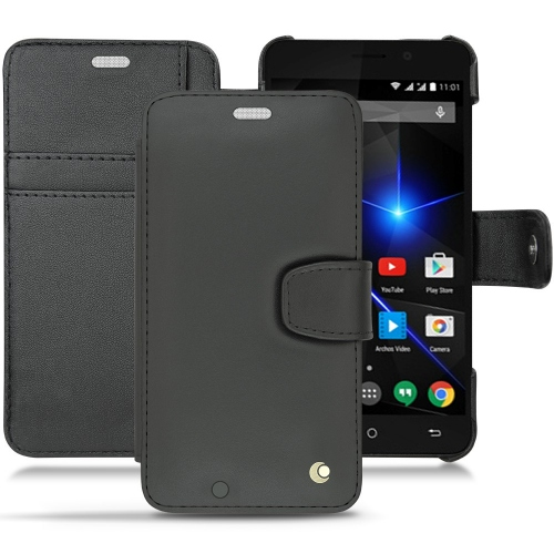 Archos 50 Oxygen + leather case - Noir ( Nappa - Black )