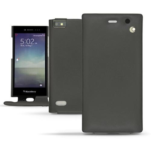 Housse cuir Blackberry Leap - Noir ( Nappa - Black )