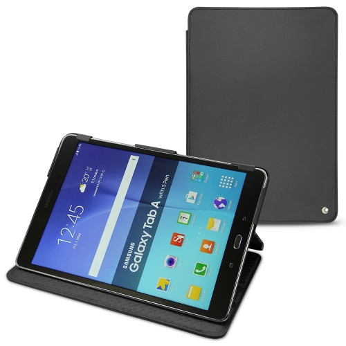 Samsung Galaxy Tab A 8.0 leather case - Noir ( Nappa - Black )