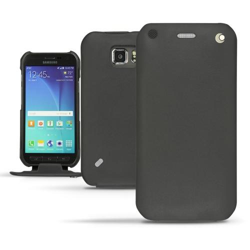 Capa em pele Samsung SM-G890 Galaxy S6 Active - Noir ( Nappa - Black )