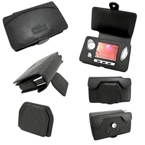 Leather case Archos Gmini 400-402  - Noir ( Nappa - Black )