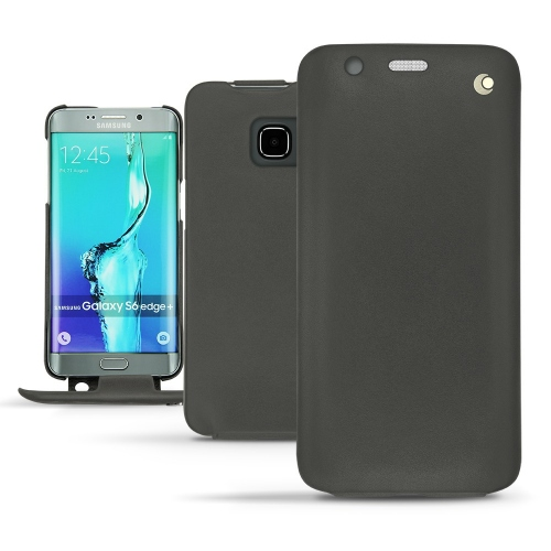 Samsung Galaxy S6 Edge Plus leather case - Noir ( Nappa - Black )