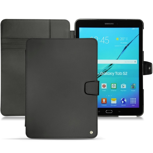 Samsung Galaxy Tab S2 9.7 leather case - Noir ( Nappa - Black )
