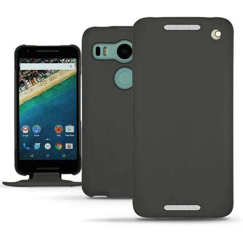 LG Nexus 5X  leather case - Noir ( Nappa - Black )