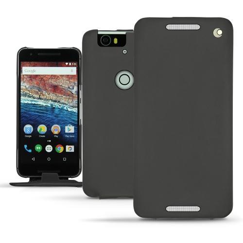 Housse cuir Huawei Nexus 6P - Noir ( Nappa - Black )