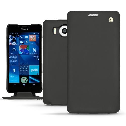 Microsoft Lumia 950 - 950 Dual Sim leather case - Noir ( Nappa - Black )
