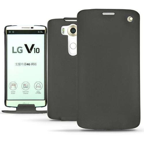 LG V10 leather case - Noir ( Nappa - Black )