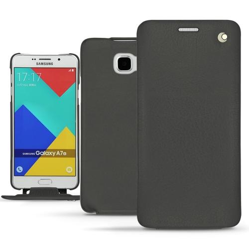 レザーケース Samsung SM-A710F Galaxy A7 (2016) - Noir ( Nappa - Black )