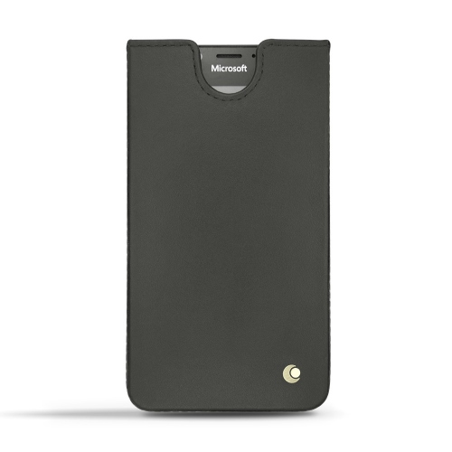 Microsoft Lumia 950 - 950 Dual Sim leather case - Noir ( Nappa - Black )