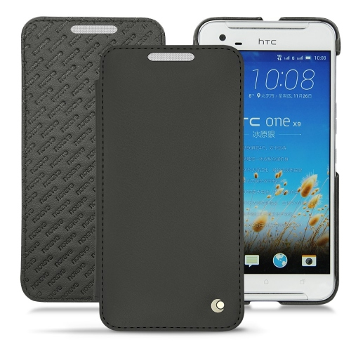 Funda de piel HTC One X9 - Noir ( Nappa - Black )