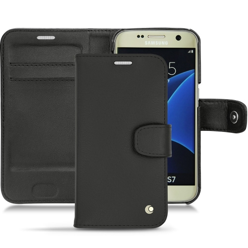 Samsung Galaxy S7 leather case - Noir ( Nappa - Black )