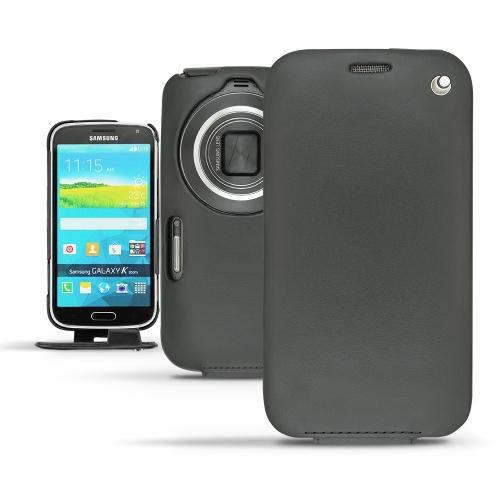 Samsung Galaxy K Zoom  leather case - Noir ( Nappa - Black )