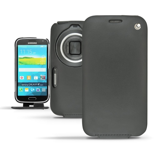 Samsung Galaxy K Zoom  leather case - Noir ( Nappa - Black )