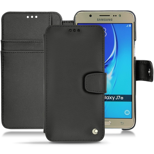 Housse cuir Samsung Galaxy J7 (2016)