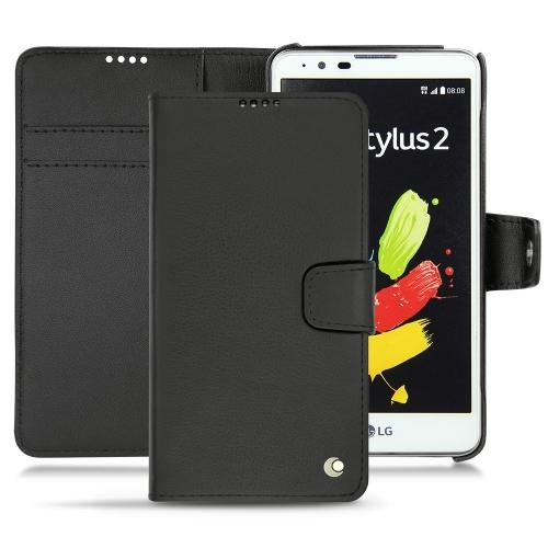LG Stylus 2 leather case - Noir ( Nappa - Black )