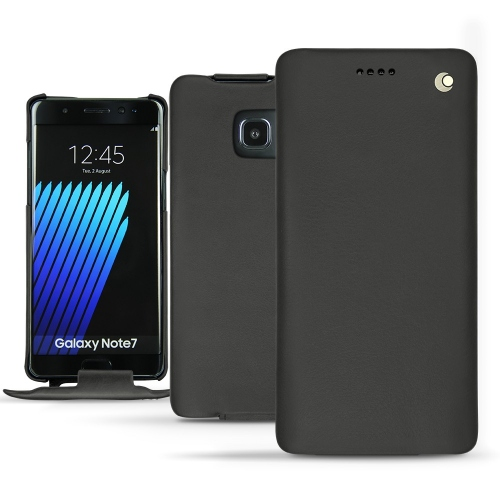 Samsung Galaxy Note 7 leather case - Noir ( Nappa - Black )
