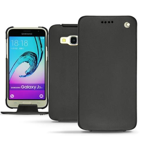 Samsung Galaxy J3 (2016) leather case - Noir ( Nappa - Black )