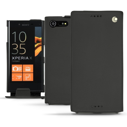 Sony Xperia X Compact leather case - Noir ( Nappa - Black )