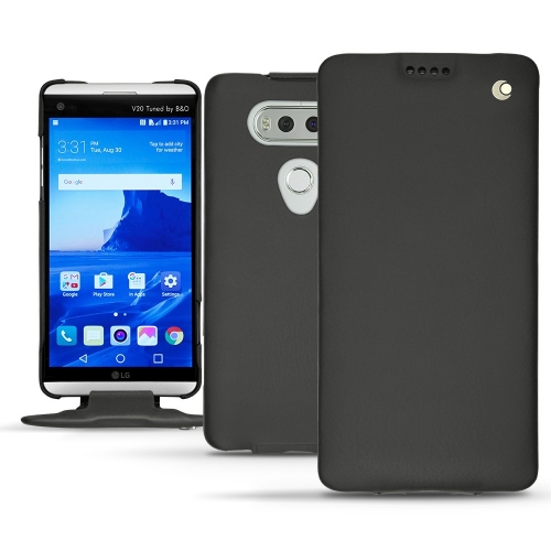 LG V20 leather case - Noir ( Nappa - Black )