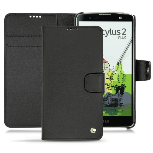 Housse cuir LG Stylus 2 Plus - Noir ( Nappa - Black )