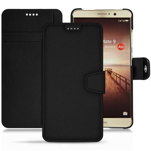 Huawei Mate 9 leather case - Noir PU