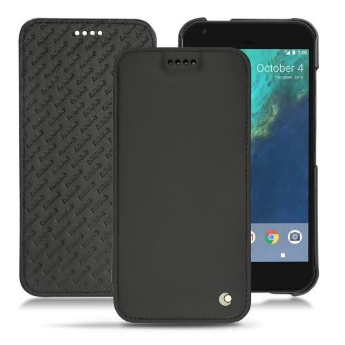Google Pixel XL leather case - Noir ( Nappa - Black )