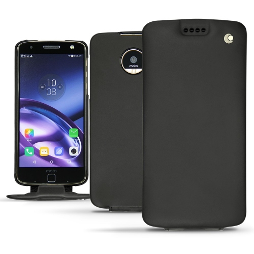 Lenovo Moto Z leather case - Noir ( Nappa - Black )