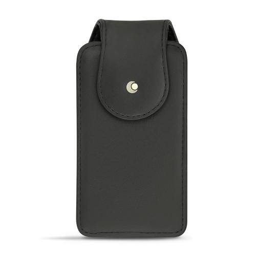 전화기 전 모델용 수직 케이스- 가죽, 대형 - Noir ( Nappa - Black )