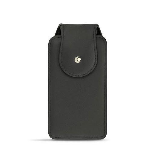 전화기 전 모델용 수직 케이스- 가죽, 중형 - Noir ( Nappa - Black )
