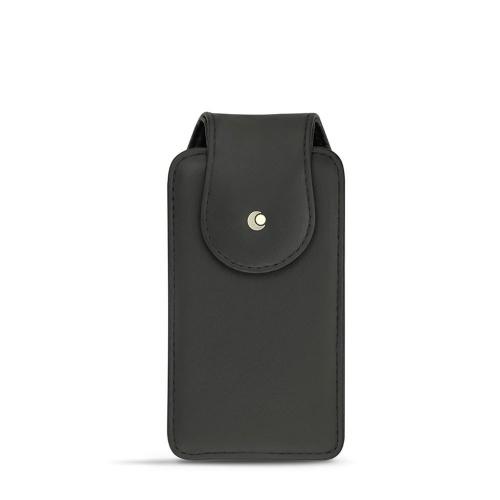 携帯電話用縦型ケース、全機種共通 - レザー製、